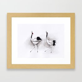 Japanese cranes Framed Art Print