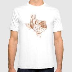 The Heart of Texas (UT) MEDIUM Mens Fitted Tee White