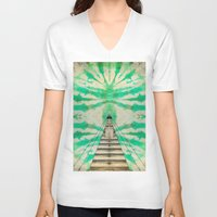 journey V-neck T-shirts featuring Journey by Lauren Miller