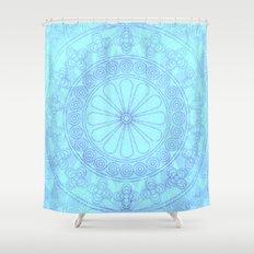 Mandala blue Shower Curtain