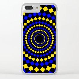 circular diamond pattern Clear iPhone Case