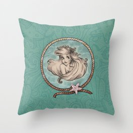 Mermaid Art Throw Pillow