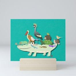 Crocodile Mini Art Print