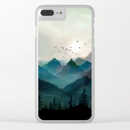 Mountain Sunrise II Clear iPhone Case