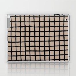 Strokes Grid - Black on Nude Laptop & iPad Skin
