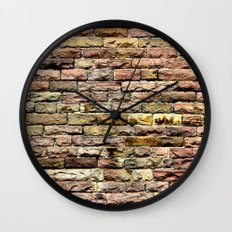 Pink bricks Wall Clock