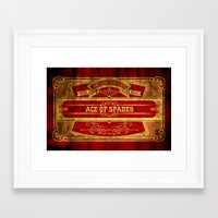 ace Framed Art Prints featuring Ace by Ace of Spades