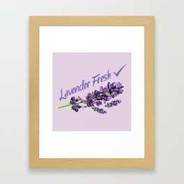 Lavender Fresh Pattern (powder pink) Framed Art Print