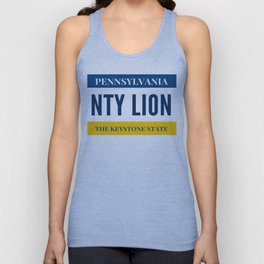 Nittany Lion License Plate Unisex Tank Top