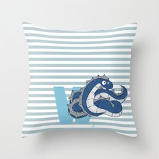 w for wyrm Throw Pillow