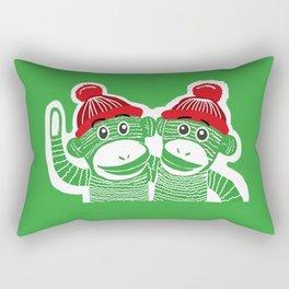 Sock Monkeys Art Rectangular Pillow