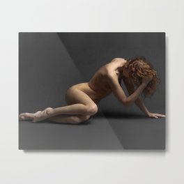 Sensual red hair woman Metal Print