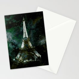 Paris Dreams Dark Green Teal Stationery Cards