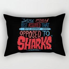 Opposed to Sharks Rectangular Pillow