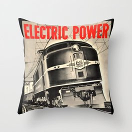 Electric Power Throw Pillow