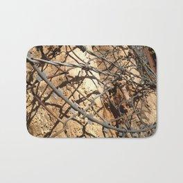 Barbwire tree Bath Mat