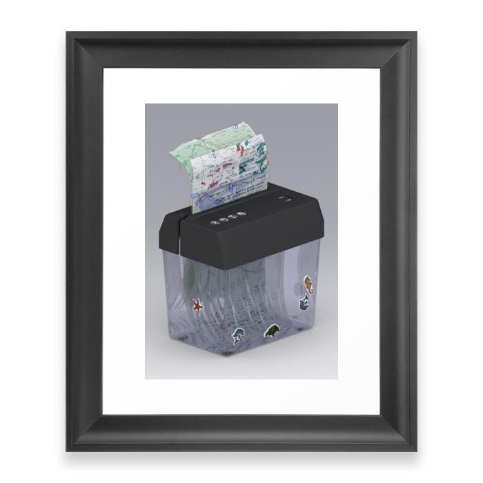 Paper Shredder Framed Art Print by suntafrunce (FRM9046306) photo