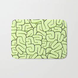 Zombie Brains in Lime Large Bath Mat