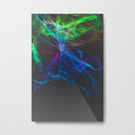 Smoke clouds of colors. Metal Print