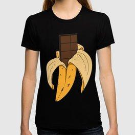 Chocolate peeling banana sweet tasty fruit kids funny gift idea birthday T-shirt
