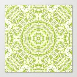 Spring Botanic Mandala Canvas Print