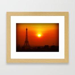 Red Paris Framed Art Print