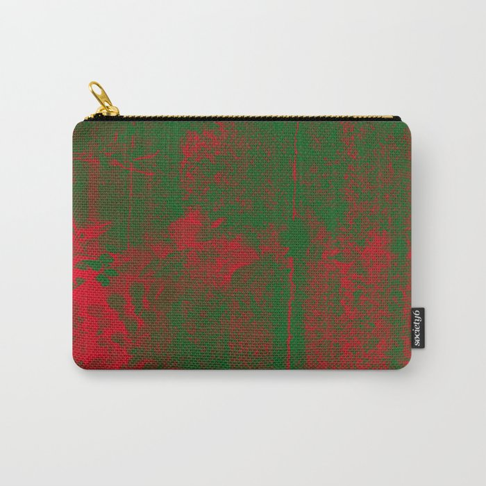 Leaves in fire red green fantasy Carry-All Pouch