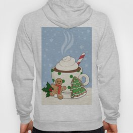 Hot Chocolate and  Gingerbread Cookies - Christmas Hoody