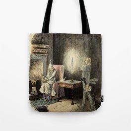 Marley's Ghost-John Leech Tote Bag