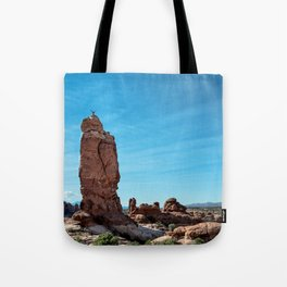 Arches Handstand Tote Bag