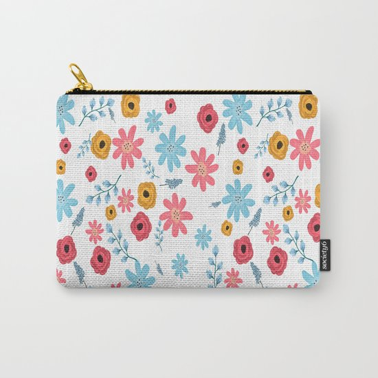 Colors Flowers 3 Carry-All Pouch