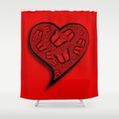 The blood heart and butterflies Shower Curtain