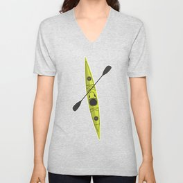Kayak - Lime Green Unisex V-Neck