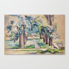 1893 - Paul Cezanne - Avenue of Chestnut Trees at the Jas de Bouffan Canvas Print