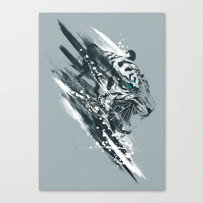 white tigra Canvas Print