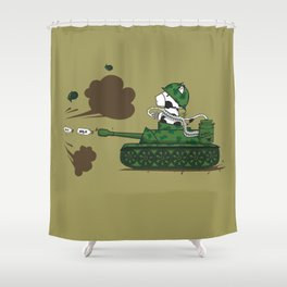 Muso Milkwar Tanker Shower Curtain