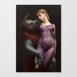 The Beast and The Princess Canvas Print