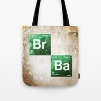 chemistry Tote Bags featuring BrBa chemistry by Nxolab