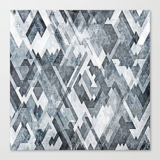 zig zag black and white Canvas Print
