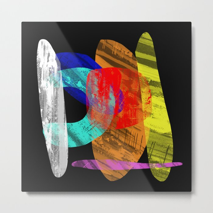 Pastel Pieces - Abstract, pastel artwork Metal Print