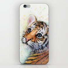 Tiger Cub Cute Baby Animals iPhone & iPod Skin