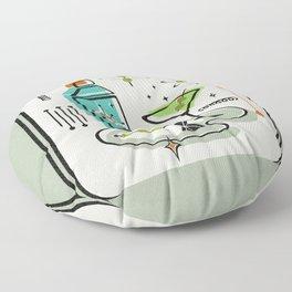 Atomic Martini ©studioxtine Floor Pillow