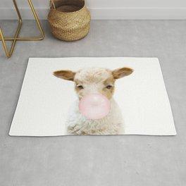 Bubble Gum Baby Lamb Rug