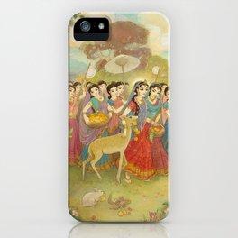 Radha Walks to Nandagaon iPhone Case