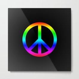 Rainbow Peace Sign Metal Print