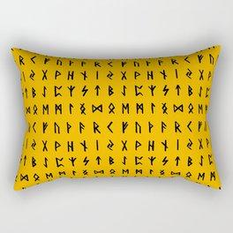 Nordic Runes // Orange Rectangular Pillow