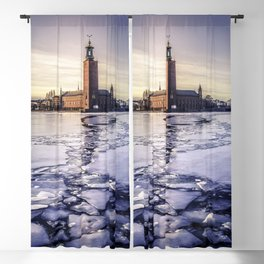 Stockholm City Hall in Winter Blackout Curtain