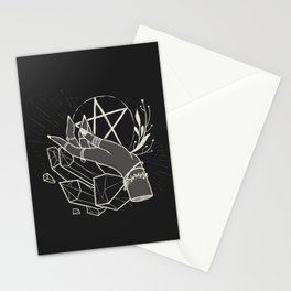 Witchy things - black Stationery Cards