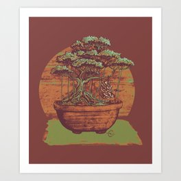 Bonsai Roach Swing Art Print