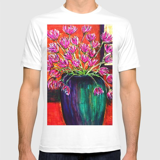 Flowers in Green Vase T-shirt